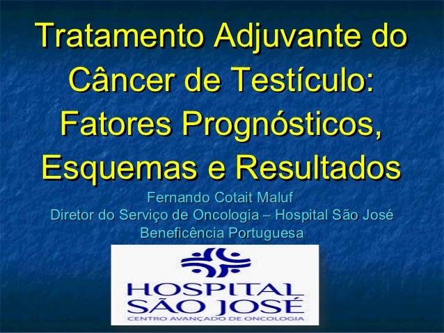 Tratamento Adjuvante do  Câncer de Testículo: Fatores Prognósticos,Esquemas e Resultados               Fernando Cotait Mal...