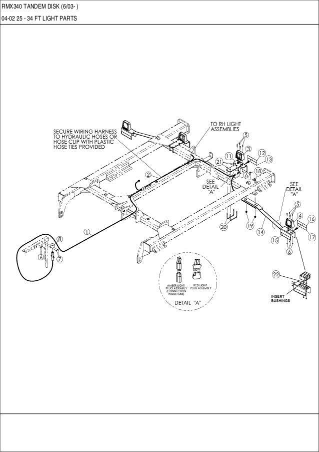CASE RMX 340 Tandem disk parts catalog