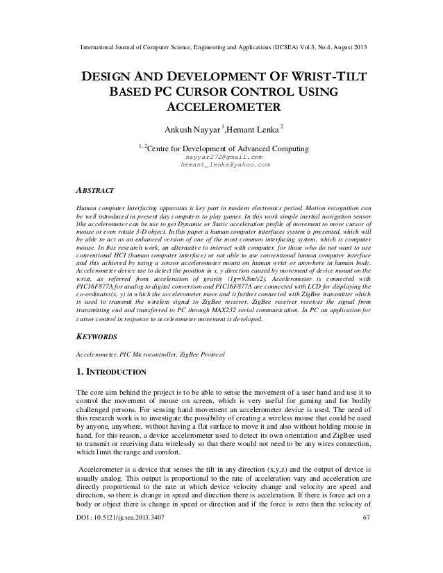International Journal of Computer Science, Engineering and Applications (IJCSEA) Vol.3, No.4, August 2013 DOI : 10.5121/ij...