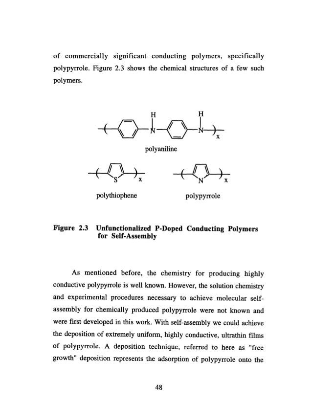 Conjugated polymer thesis