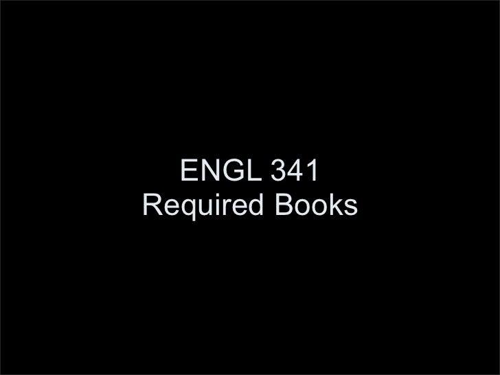 ENGL 341 Texts