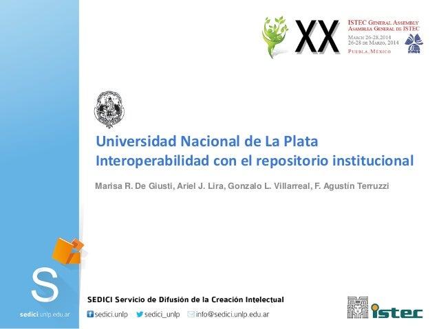 Interoperabilidad con el repositorio institucional