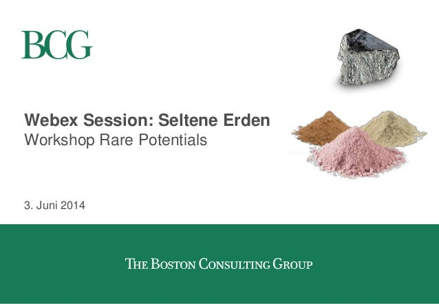 Webex Session: Seltene Erden Workshop Rare Potentials 3. Juni 2014