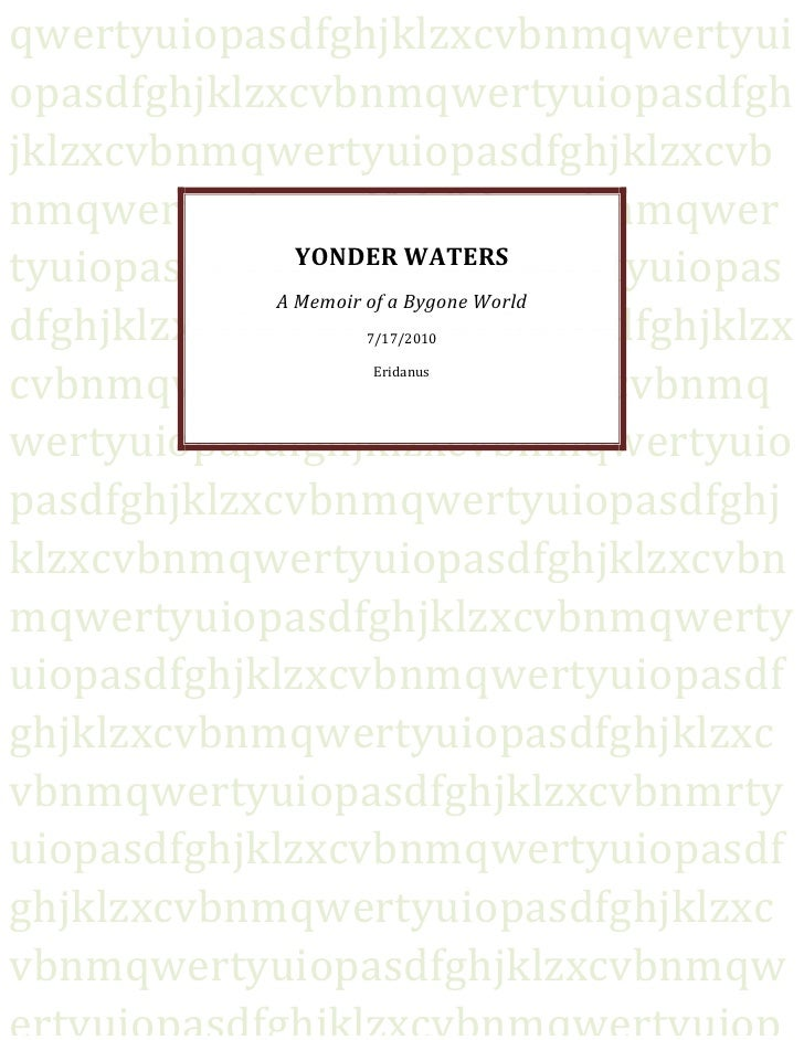 ERIDANUS - Yonder Waters (Reading Club Edition)
