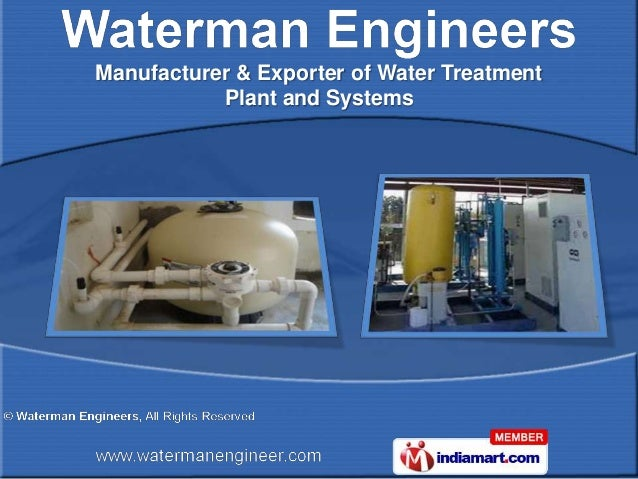 Manufacturer & Exporter of Water Treatment           Plant and Systems