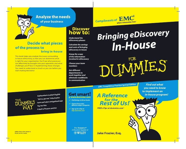 Bringing eDiscovery In-House for Dummies