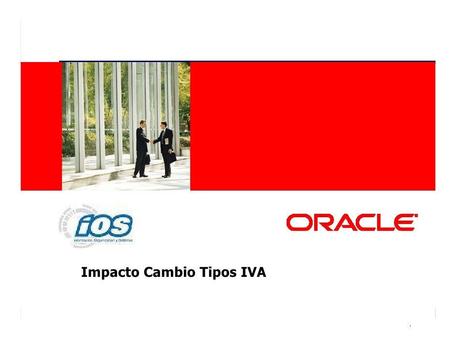 Presentacion JDE Customers Day 2 Impacto Cambio Tipos IVA