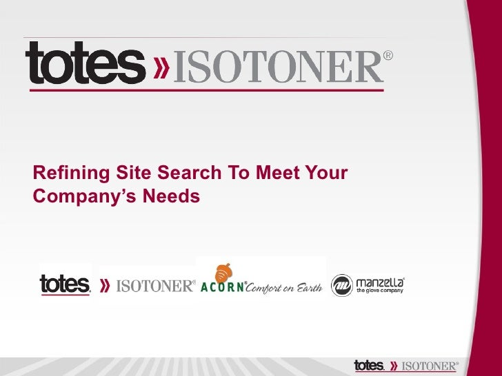 Refining Site Search To Meet YourCompany's Needs
