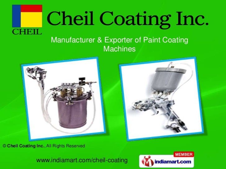 Manufacturer & Exporter of Paint Coating                                      Machines© Cheil Coating Inc., All Rights Res...