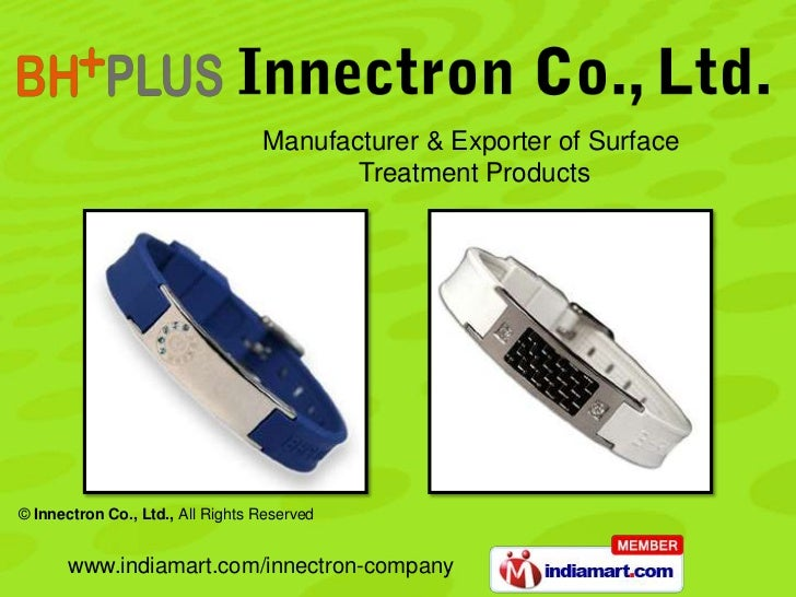 Manufacturer & Exporter of Surface                                         Treatment Products© Innectron Co., Ltd., All Ri...