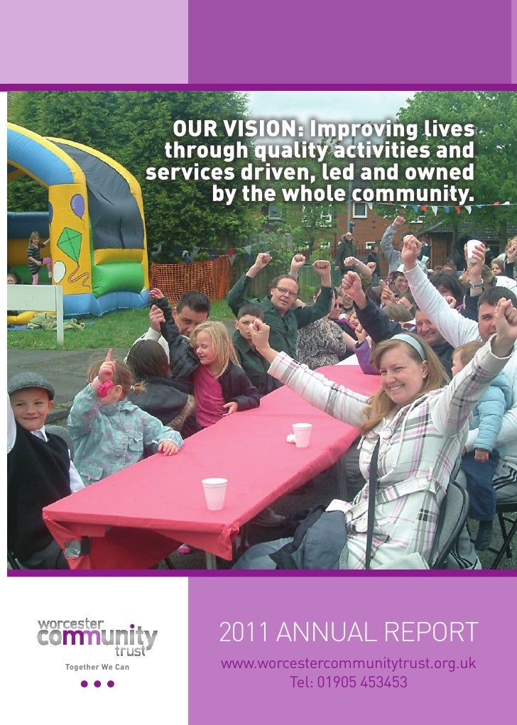 OUR VISION: Improving lives                    through quality activities and                  services driven, led and ow...