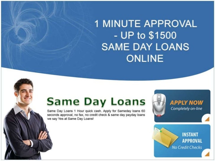 "Same Day Loans In One Day! If you are thinking to yourself, does the term ""same day loans"" mean that I can get a quick cas..."