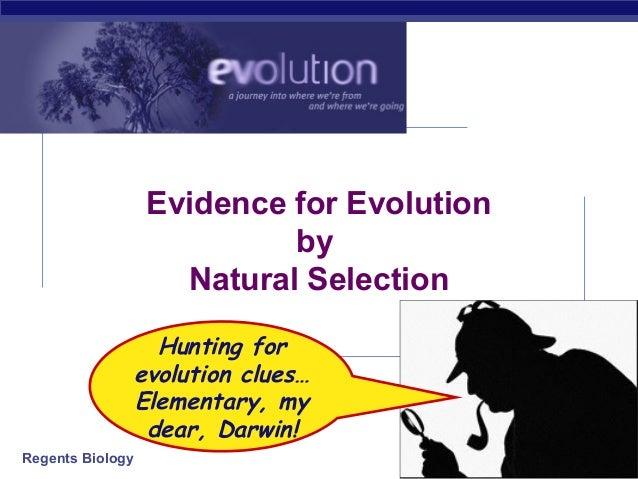 Regeants Evidence for Evolution