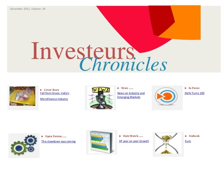 December 2011, Volume: 34                                ISSUE                      VOLUME              Investeurs        ...