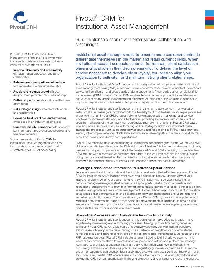 Institutional asset management