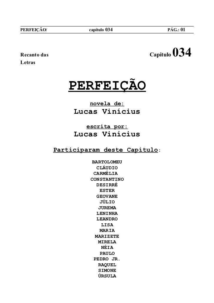 PERFEIÇÃO/             capítulo 034          PÁG.: 01Recanto das                            Capítulo   034Letras          ...