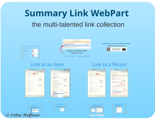 SharePoint Lesson #34: The Summary Link Webpart