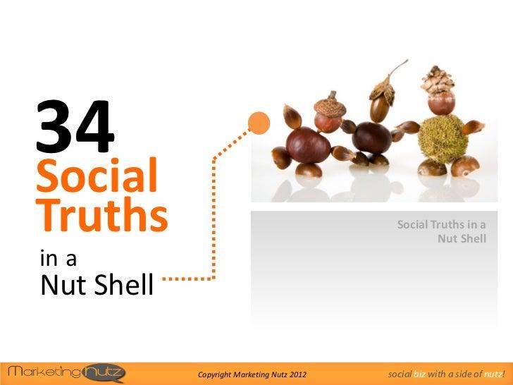 34 Social Media Truths in a Nut Shell