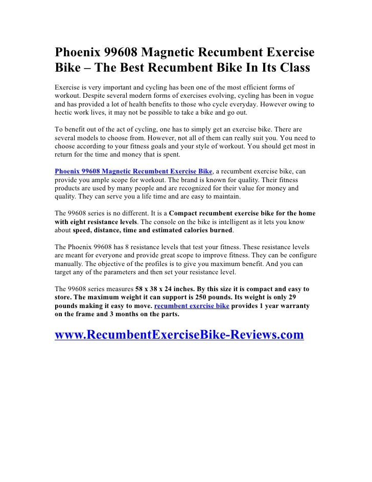 Recumbent Bike Parts The Best Recumbent Bike in