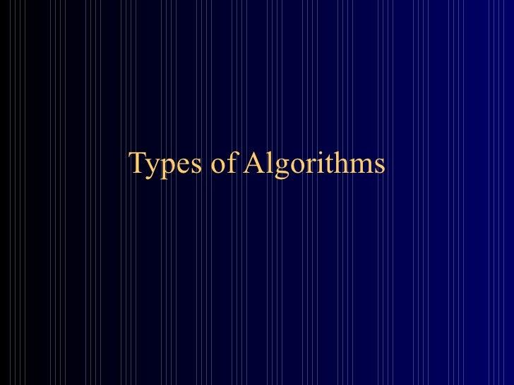 35 algorithm-types