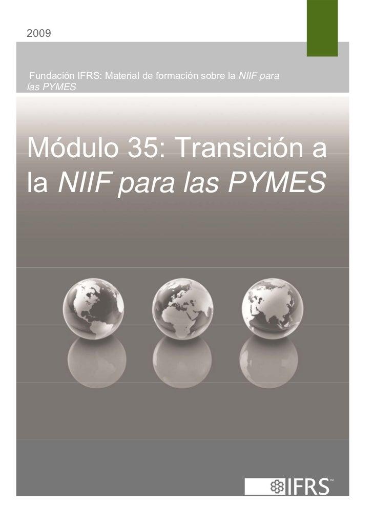 35. Transicion a la NIIF para las Pymes