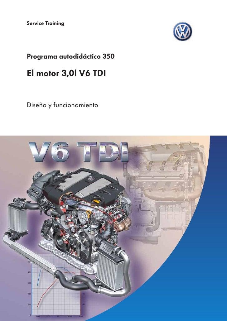 Service TrainingPrograma autodidáctico 350El motor 3,0l V6 TDIDiseño y funcionamiento