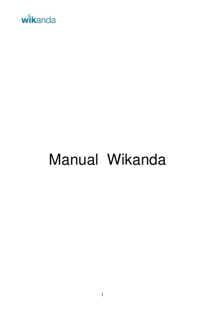 ManualWikanda           1