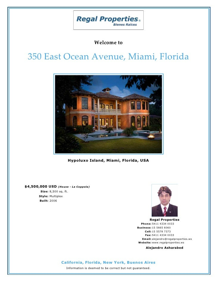 350 East Ocean Avenue, Miami, Florida - USA