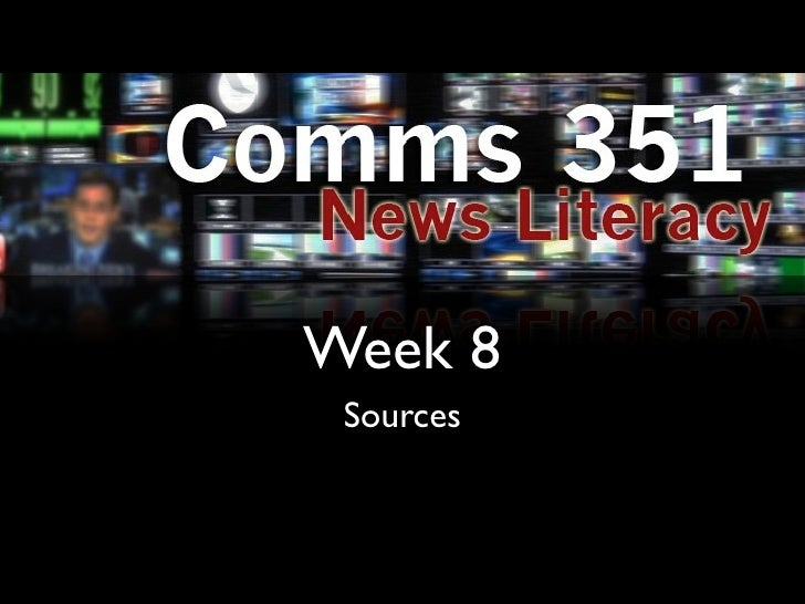 Week 8 Sources