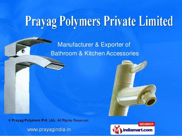 Bathroom fittings by prayag india sanitary hardware new for Bathroom accessories market in delhi
