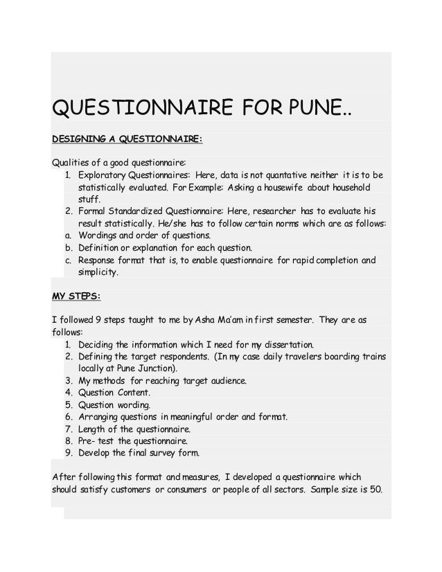Dissertation Questionnaire (geography)?