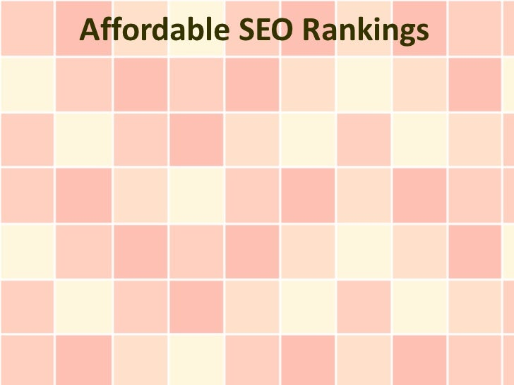 Affordable SEO Rankings