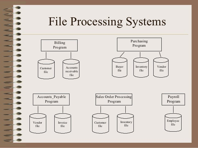 File Processing Systems                Billing                                   Purchasing               Program         ...