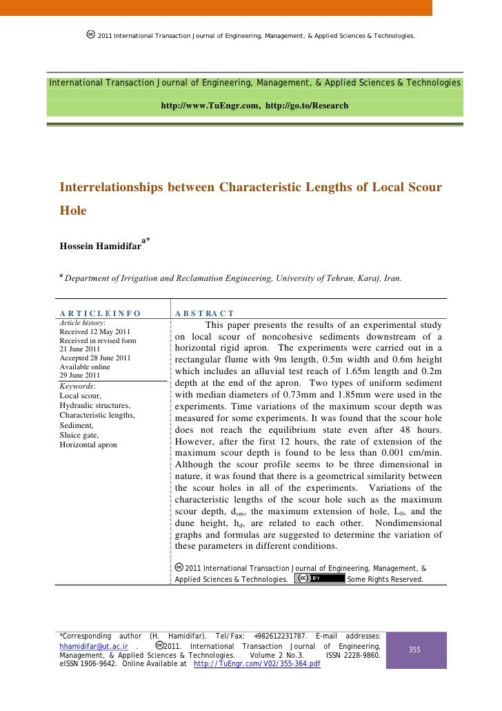 Interrelationships between Characteristic Lengths of Local Scour Hole