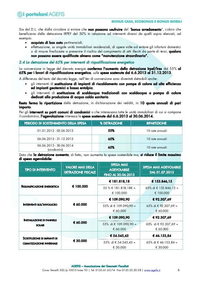 355 guida agevolazioni fiscali agefis - Detrazione fiscale per rifacimento bagno ...