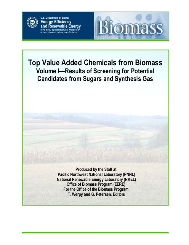 Top Value Added Chemicals from Biomass Volume I—Results of Screening for Potential Candidates from Sugars and Synthesis Ga...