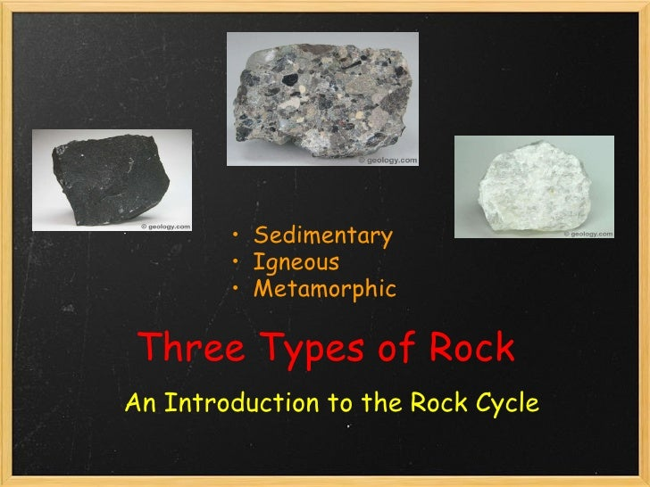 Three Types of Rocks