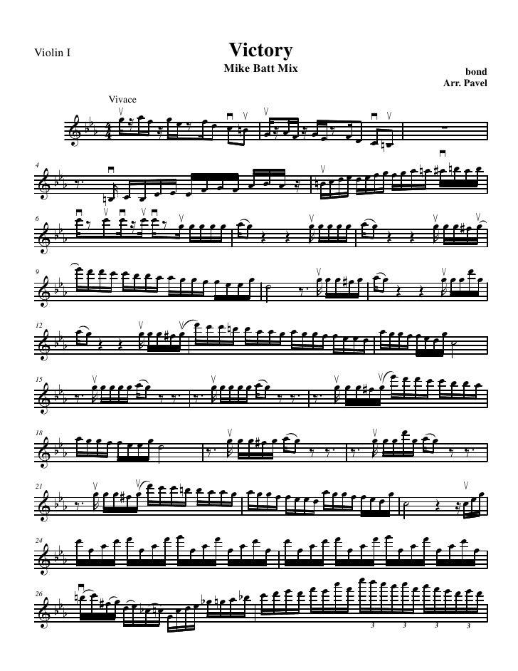 Violin I            Victory                    Mike Batt Mix                    bond                                      ...