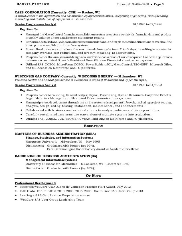 As400 mainframe resume