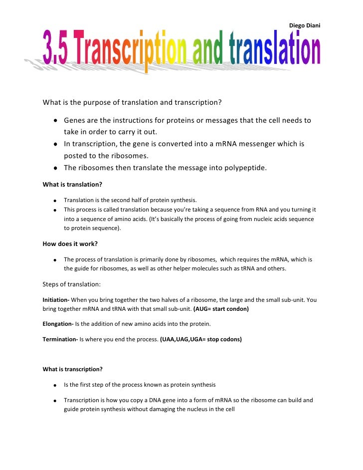 3 5 translation and transcription