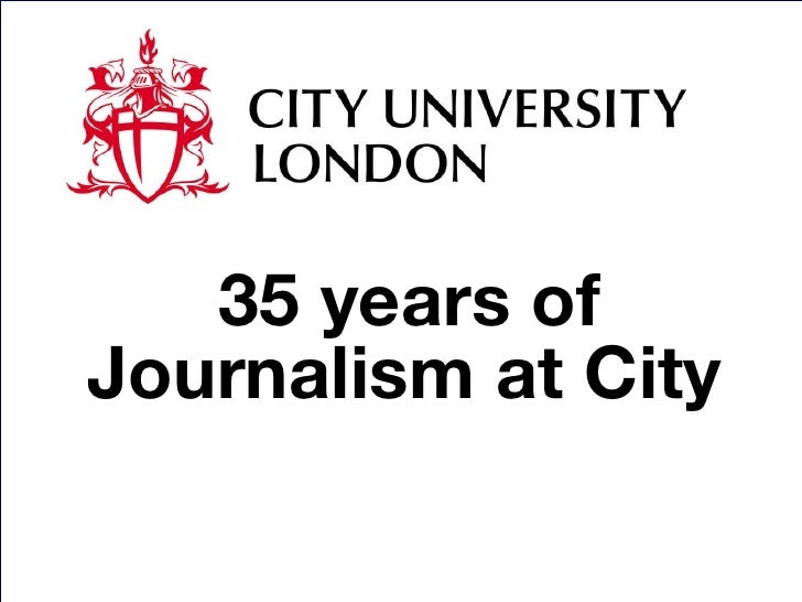 35 years of Journalism at City