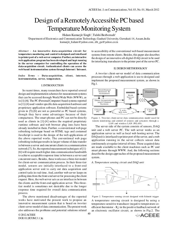 ACEEE Int. J. on Communications, Vol. 03, No. 01, March 2012                 Design of a Remotely Accessible PC based     ...