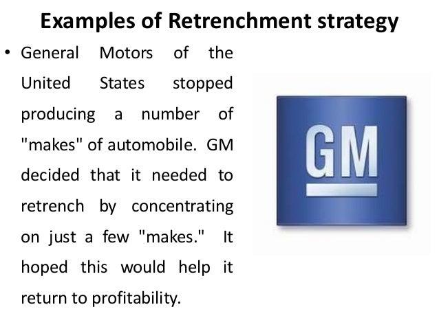 Liquidation Strategy Retrenchment Strategies Corporate