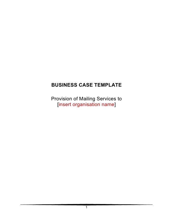 36 business case template. Black Bedroom Furniture Sets. Home Design Ideas