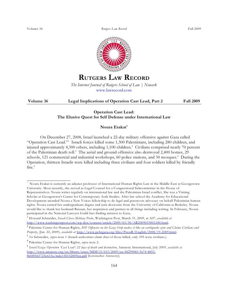 Volume 36                                             Rutgers Law Record                                            Fall 2...