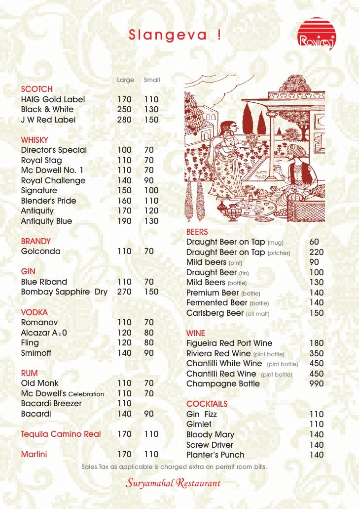 ... - Restaurant Menu Card 2009 - 2010 Indian Veg Restaurant Menu Design