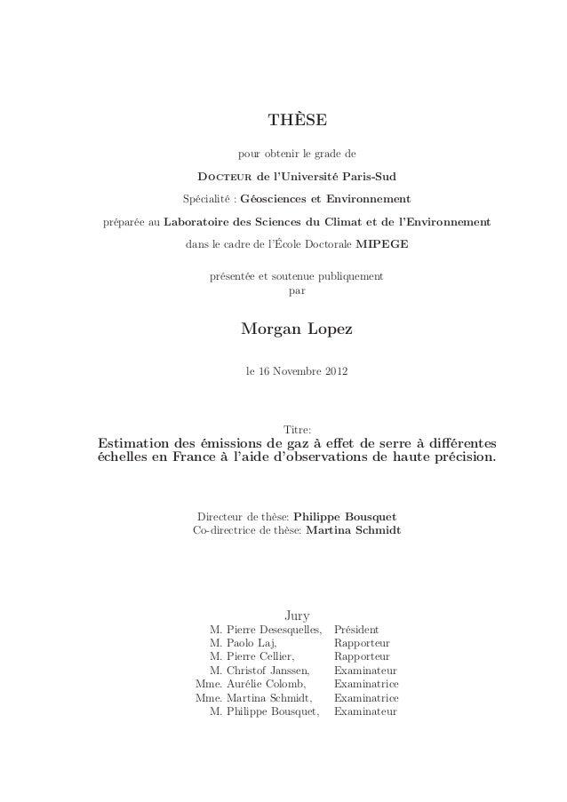 THÈSE pour obtenir le grade de Docteur de l'Université Paris-Sud Spécialité : Géosciences et Environnement préparée au Lab...