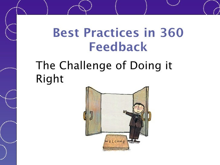 Best Practices in 360 Feedback