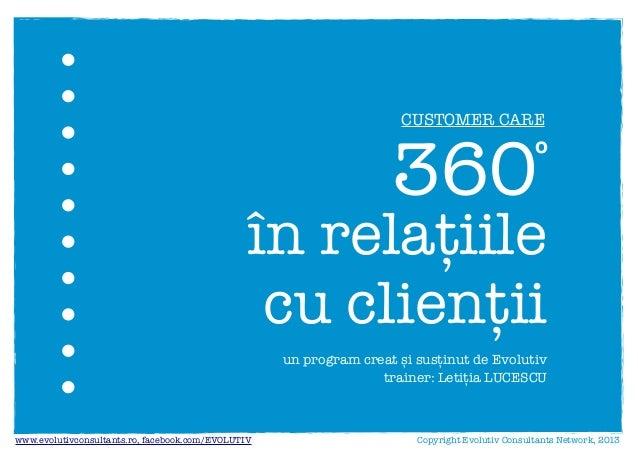 360º in relatiile cu clientii (Evolutiv)