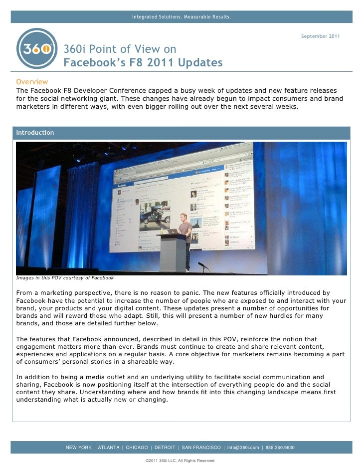 360i Report on the Facebook F8 2011 Updates